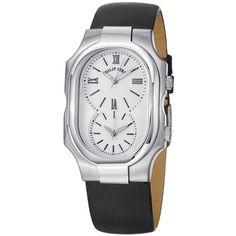 Philip Stein Women's 2-NCW-IB 'Signature' Dial Black Strap Dual Time Watch