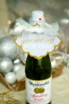 FREE New Year's Eve Party Printables! Love this New Year's Eve Gift Tag! By Love the Day on KarasPartyIdeas.com