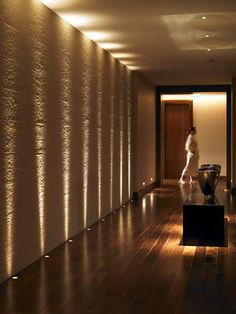 *modern interiors, hallway, lighting design* - Spa at the Gleneagles Hotel in Scotland by designer Amanda Rosa Design Hotel Projects Spa Design, House Design, Design Ideas, Design Projects, Design Art, Lamp Design, Design Inspiration, Corridor Lighting, Home Lighting