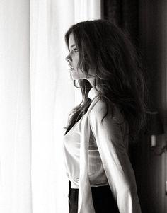 blouse; i like her hair, too