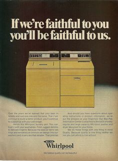 1977 Whirlpool Washer Dryer Vintage Print Ad