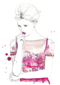 """Absolutely adore this illustration by Sarah Hankinson """"this is my most recent illustration - hannah. she will be one of the 12 illustrations from 2012 in my calendar"""" - Sarah Hankinson Illustration Sketches, Illustrations Posters, Fashion Illustrations, Art Posters, Arte Fashion, Girl Fashion, Fashion Sketches, Drawing Fashion, Love Art"""