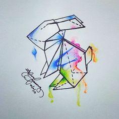 origami rabbit tattoo - Buscar con Google