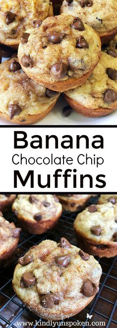 These Cinnamon Sugar Chocolate Chip Banana Muffins have all the right flavors in all the right places and will have you craving these every morning!