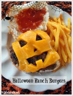 Halloween Jack-O-Lantern Ranch Burgers at Jam Hands
