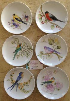 Bird Painting Acrylic, China Painting, Watercolor Bird, Ceramic Painting, Fabric Painting, Painted Ceramic Plates, Ceramic Teapots, Porcelain Ceramics, Blue Water Wallpaper