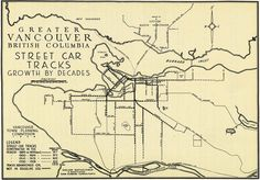 This map of the Vancouver streetcar routes in 1928.