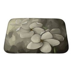 Gear New Flowers Digital Painting in Computer Bath Mat/Rug Size: