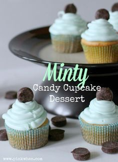 A delicious Minty Candy Cupcake Dessert using the new Hershey's®️️ York Minis! YUM!