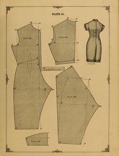 Ladies Undergarment Pattern. 1890 - 1892 The cutters' practical guide to the cutting of ladies' garments by Vincent, W. D. F.