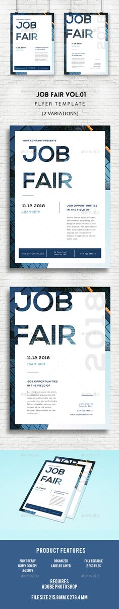 Job Fair Flyer  - PSD Template • Only available here ➝ graphicriver.net/...