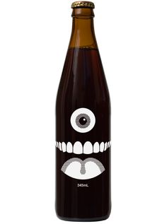 Beer Bottle Design by Craig & Karl.  Oo, bet I can get something like this silly look with stickers!