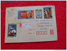 VINTAGE AUSTRIA Old Envelope Traveled COVER HUNGARY MANY STAMS - Austria