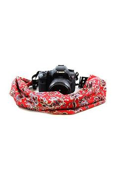 CASCARF-LBTY Liberty Red And Black Scarf Camera Strap - Capturing Couture