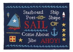 Sail Hook Rug- Accent