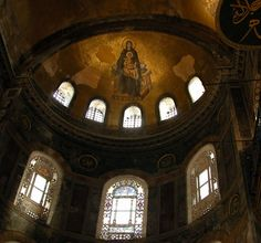 The Virgin and Child from the apse of Hagia Sophia, Istanbul/Constantinople