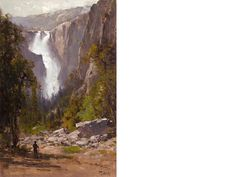 Thomas Hill (American, 1829-1908): The Cascades, Yosemite