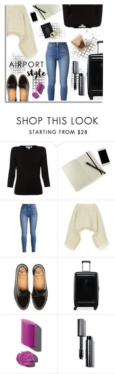 """""""Airport Style"""" by whatsmynameriri ❤ liked on Polyvore featuring Belford, Moleskine, Sacai, Victorinox Swiss Army, Bobbi Brown Cosmetics, airportstyle and polyvoreeditorial"""