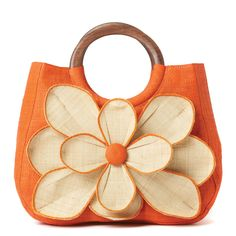 Flower Tote Guadeloupe Orange