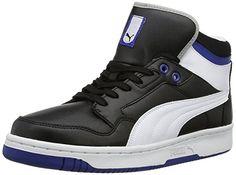 PUMA Puma Rebound FS 4 Mid 354909 Herren Sneaker, Schwarz (black-white 10), EU 42 (UK 8) (US 9)