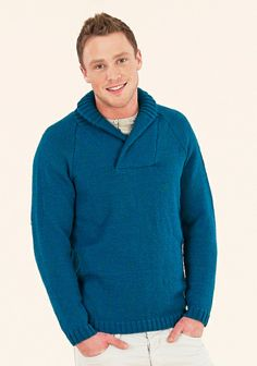 Casual weekend sweater from the seventh extra fine merino double knitting book Knitting Books, Men Design, Double Knitting, Knit Crochet, Men Sweater, Casual Weekend, Pullover, Boys, Sweaters