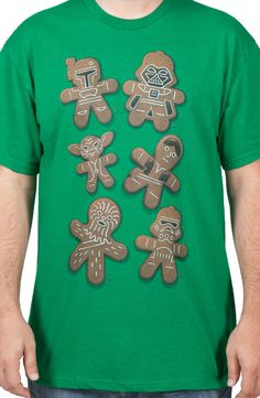 Gingerbread Star Wars Characters tee