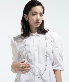 NOISE LONG NECKLACE -WOMEN-(ネックレス)|ANREALAGE(アンリアレイジ)のファッション通販 - ZOZOTOWN