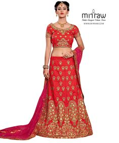 Shop red mulberry silk a line lehenga choli , freeshipping all over the world , Item code Lehenga Choli Wedding, Red Lehenga, Indian Bridal Lehenga, Bridal Lehenga Choli, Indian Bridal Wear, Lehenga Online Shopping, Floral Print Sarees, Ghaghra Choli, Mulberry Silk