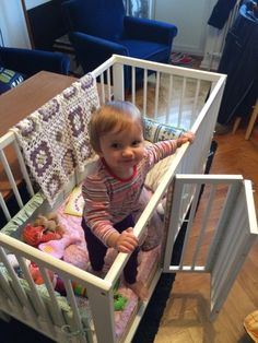 IKEA items used: GULLIVER crib Our daughter sometimes felt trapped inside the…