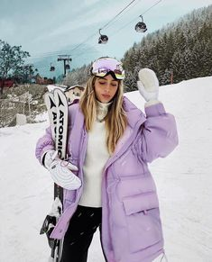 Find images and videos about fashion, style and purple on we heart it - the app to get lost in what you love. Ski Fashion, Sport Fashion, Winter Fashion, Fashion Outfits, Modesty Fashion, Arab Fashion, Fashion Spring, Ski Et Snowboard, Snowboard Girl