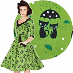Voodoo Vixen Katnis Dress 50's Vintage Rockabilly Pin Up Retro | eBay