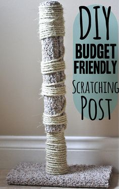 This guest post outlines how to build your own attractive, sturdy, cat scratching post. Sisal, Diy Cat Scratching Post, Diy Cat Tree, Cat Perch, Cat Playground, Cat Care Tips, Cat Scratcher, Cat Accessories, Cat Furniture