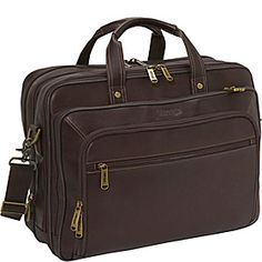 eBags Wall Street Colombian Leather Deluxe Laptop Brief - Brown - via eBags.com!