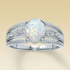 Opal wedding ring.  I'm kind of liking that it's unique.  Not sure if I want to replace the diamond just yet though ;)