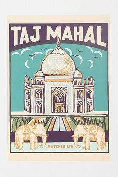 Taj Mahal Art Print, uo