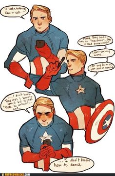 Awww Cap gets so cute when he's frustrated