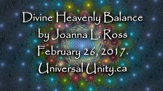 Divine Heavenly Balance by Joanna Ross February 26, 2017