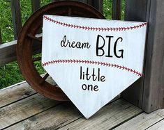 Baseball Nursery Decor To Go To Sleep I by RusticLaneCreations