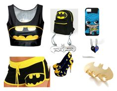 """Batman! <3"" by emma-nxt ❤ liked on Polyvore featuring Noir"