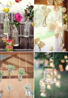 hanging flower vases/candle lanterns