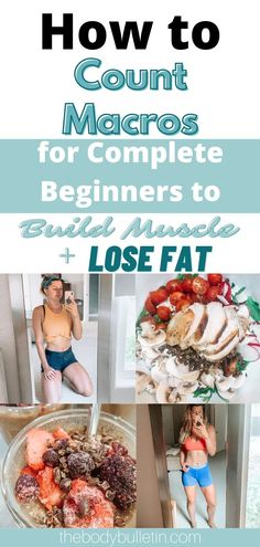How to count macros for beginners losing fat. Learn how to count macros for fat loss and muscle gain. Lean out, stop keto, paleo, dieting, and learn how to use flexible dieting to improve your health and lose weight. Understanding Macros | Counting Macros For Fat Loss | Women | Diet | How to Start Counting Macros for Beginner #Macros #Countingmacros #fitness #macrocounting #flexibledieting #iifym Lose Fat Gain Muscle, Food To Gain Muscle, Muscle Diet, Build Muscle, How To Gain Fat, Diet To Lose Weight, Lean Muscle Meal Plan, Lose Body Fat Diet, Muscle Meals