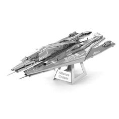 Metal Earth is a collection of intricately designed model building kits. Each kit consists of remarkably detailed laser etching cut onto one or more four-inch square sheets of thin metal. Simply snap out the eight to twelve pieces, bend the tabs to attach them together and create replicas of ships from BioWare's Mass Effect that fit in the palm of your hand. Striking to look at, especially when placed to catch the light, most Metal Earth models take less than an hour to assemble, and on ...