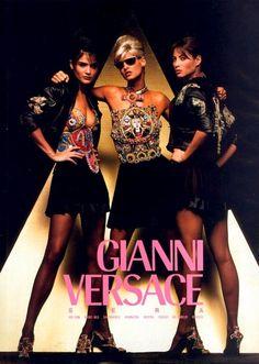 Versace Campaign, 1991Photography Richard Avedon, styling Carlyne Cerf de Dudzeele