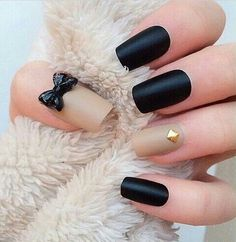 beige, black, bow, cute, girl, girly, gold, heart, love, nail, nail art, nails, nude, pattern, polish, red, rings, varnish, winter