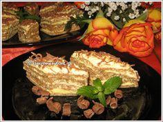 Prajitura Ileana - Retete Prajituri - Gastronomie online, retete culinare Gourmandine Romanian Desserts, Russian Desserts, Romanian Food, Romanian Recipes, Hungarian Cake, Cakes And More, Bakery, Recipies, Deserts