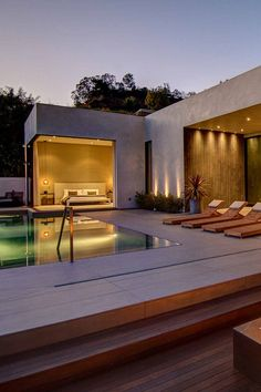 -stunning home with pool - designed by La Kaza in collaboration with Meridith Baer Home, located in the Doheny estates in Los Angeles, California. <3
