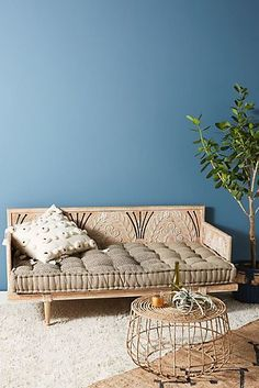 Shop the Carved Lovella Daybed and more Anthropologie at Anthropologie today - Home Decor & Furniture Unique Living Room Furniture, Home Decor Furniture, Furniture Design, Cheap Furniture, Luxury Furniture, Antique Furniture, Modern Furniture, Furniture Websites, Furniture Logo
