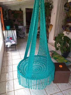 Crochet Squares, Crochet Blanket Patterns, Macrame Tutorial, Macrame Patterns, Crochet Art, Crochet Designs, Hanging Chair, Plant Hanger, Balloons