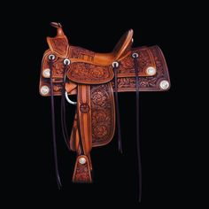 Wade Saddles, Cowboy Gear, California Style, Old West, Horse Tack, Leather Tooling, Gears, Belt, Accessories