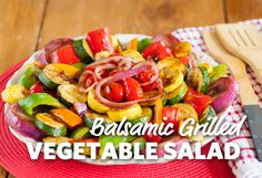 Can we all say YUM??? Delicious grilled veggies are the star of this spectacular summer salad.